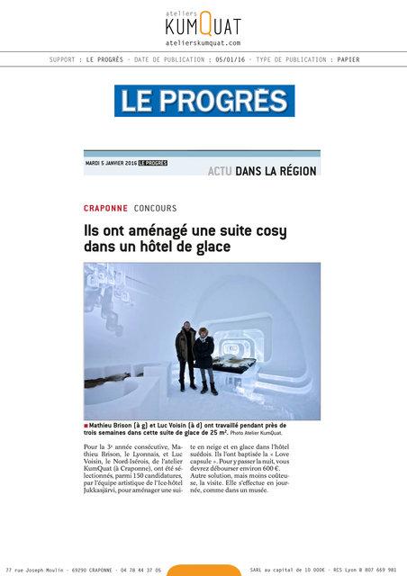 LE PROGRES - 05/01/16