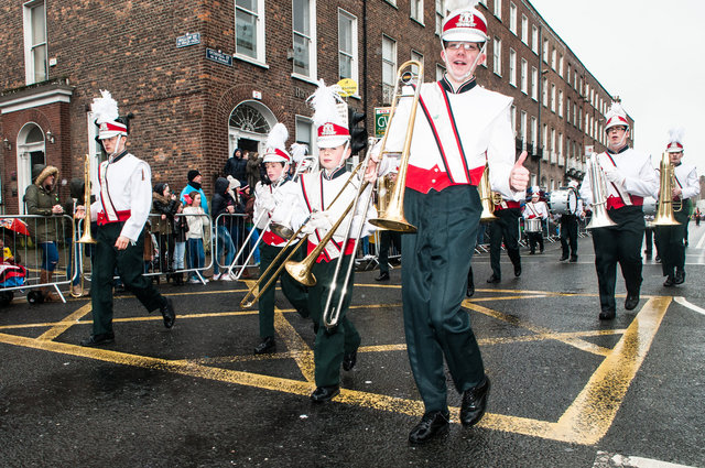 Clondalkin Youth Band marching