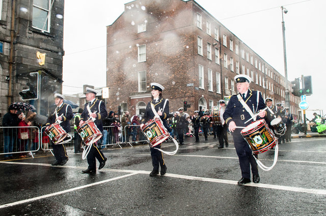 St Mary's Prize Band in the rain