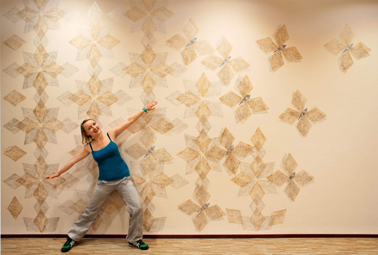 Ruit patroon Muurschildering