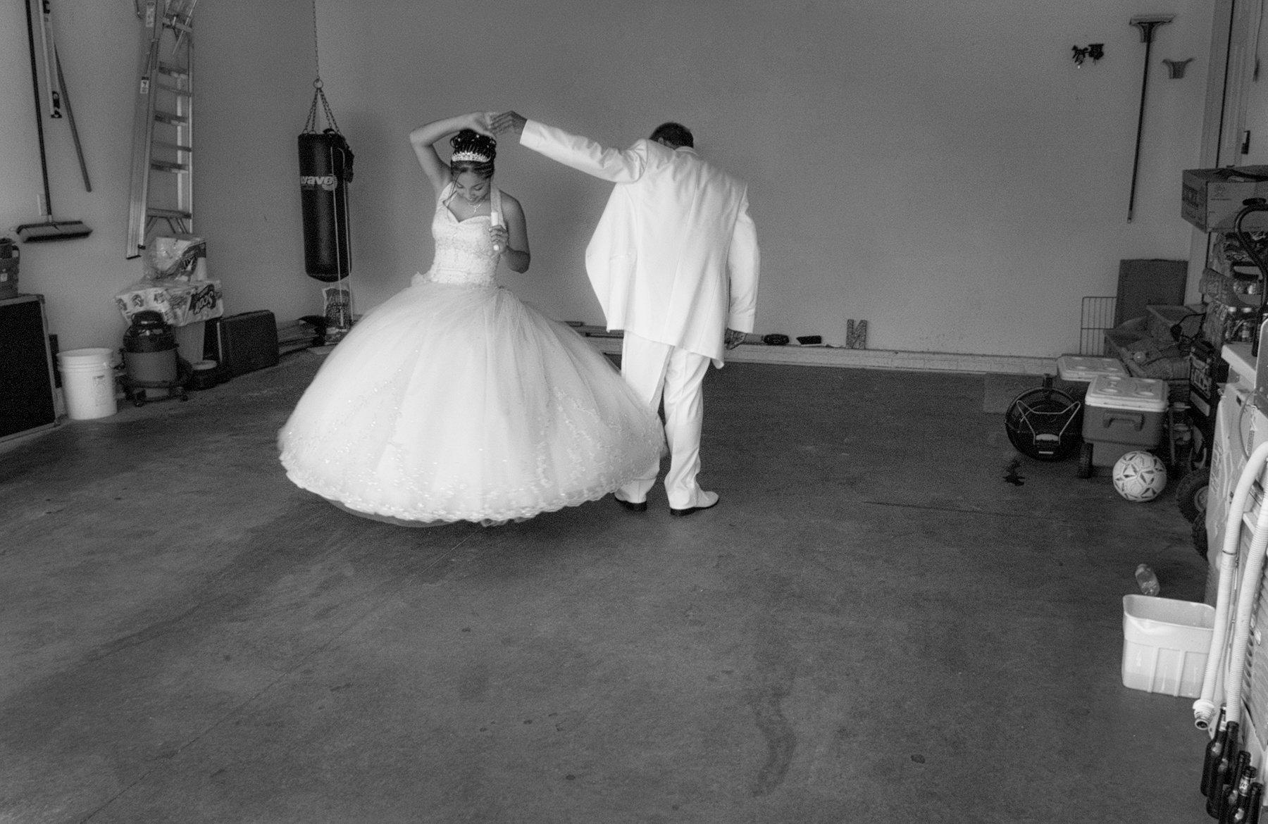 Practicing quinceañera dance SOLD