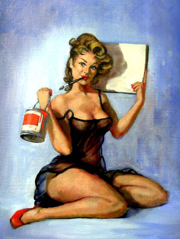 Painter Pin-Up