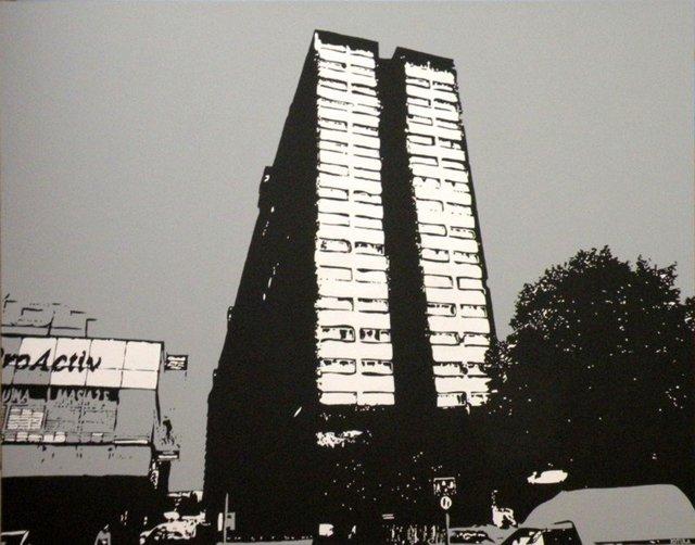 superjednostka 100 x 130, akryl na płótnie, 2008