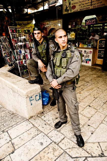 Soldiers in the old city of Jerusalem