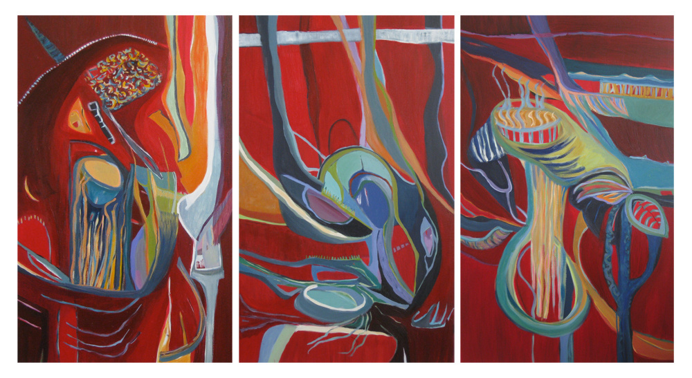 Wandering Red Triptych, 2011
