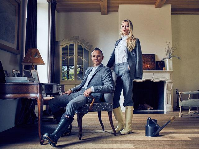 Stepan & Elizaveta Mikhalkovy for ELLE Russia 2017