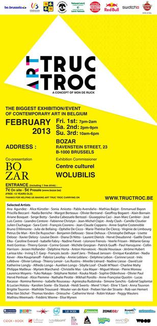 Art TrucTroc 2013, BOZAR