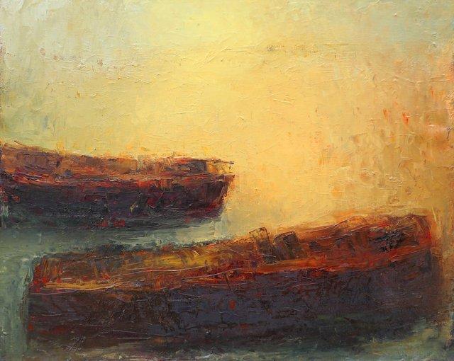 Barques au petit matin