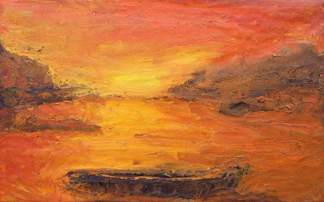 Crépuscule orange