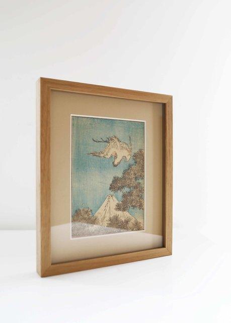 Vol d'aigrette et Mont Fuji (1849)