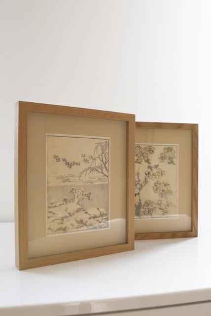 Oiseaux s'envolant qsous un paysage enneigé (1815)