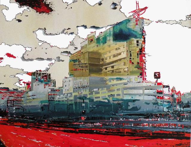 Metropolis 100x80 akryl płótno 2011