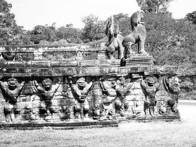 Elephant Wall, Siem Reap, Cambodia
