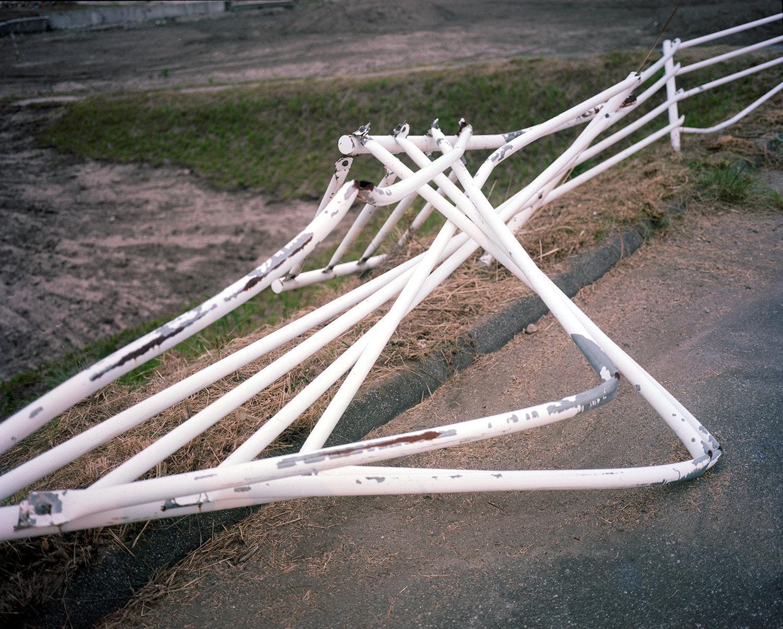 Bent rails.