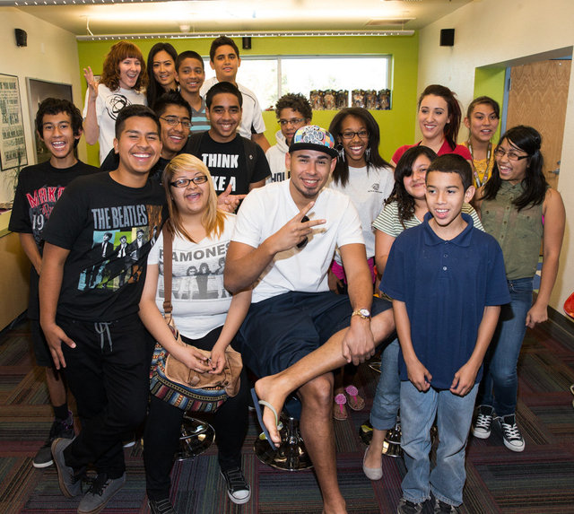 AFROJACK Visits  Boys and Girls Clubs of Las Vegas