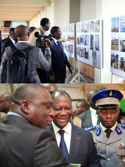 Solo exhibition for the president of Côte d'Ivoire, Mr Alassane Ouattara