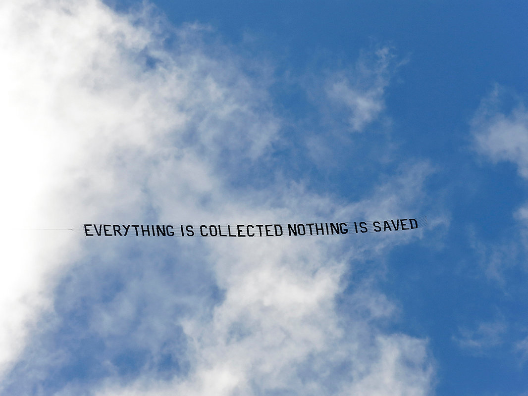 Everything is collected nothing is saved.