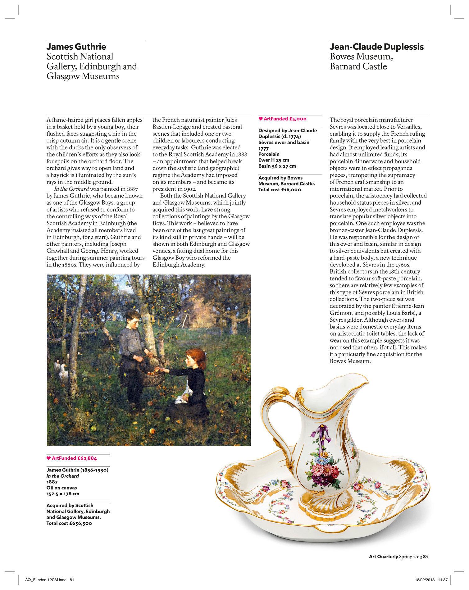 Art Quarterly Spring 2013