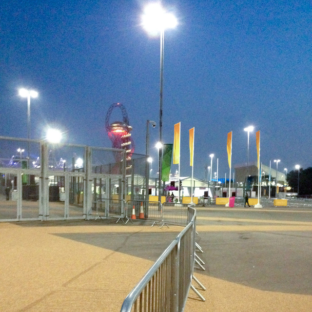 Working the night shift, Olympic Park, 2012