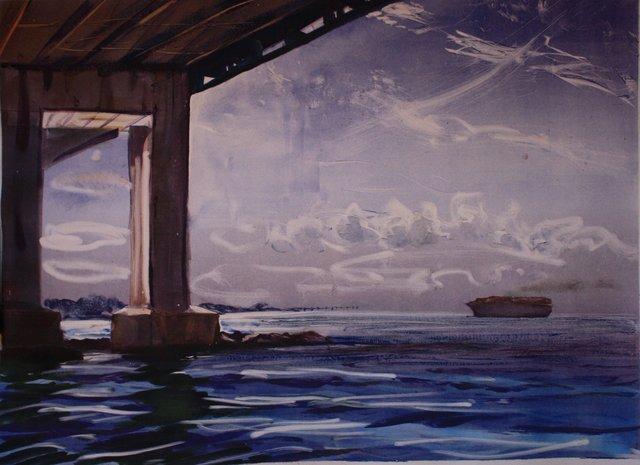 "Verrazanno Bridge   22 x 29"""