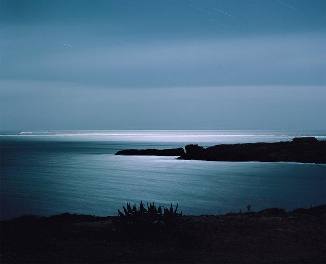 Boats at Night / Lampedusa 2015
