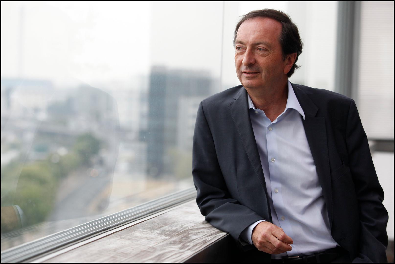 Michel-Edouard Leclerc dans son bureau