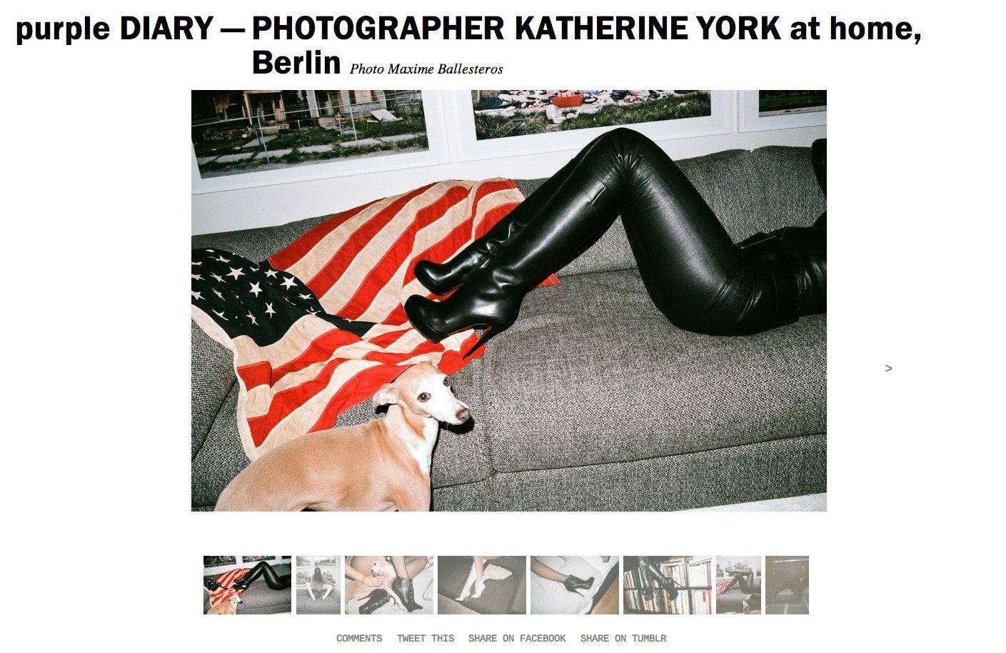 purple DIARY   PHOTOGRAPHER KATHERINE YORK at home  Berlin.jpg