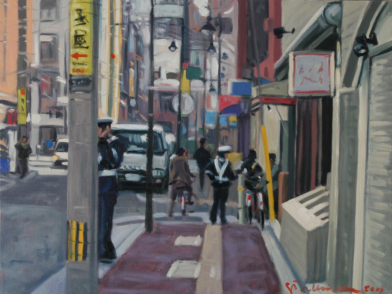 Cho (ulica), 72x54, olej płótno, 2009