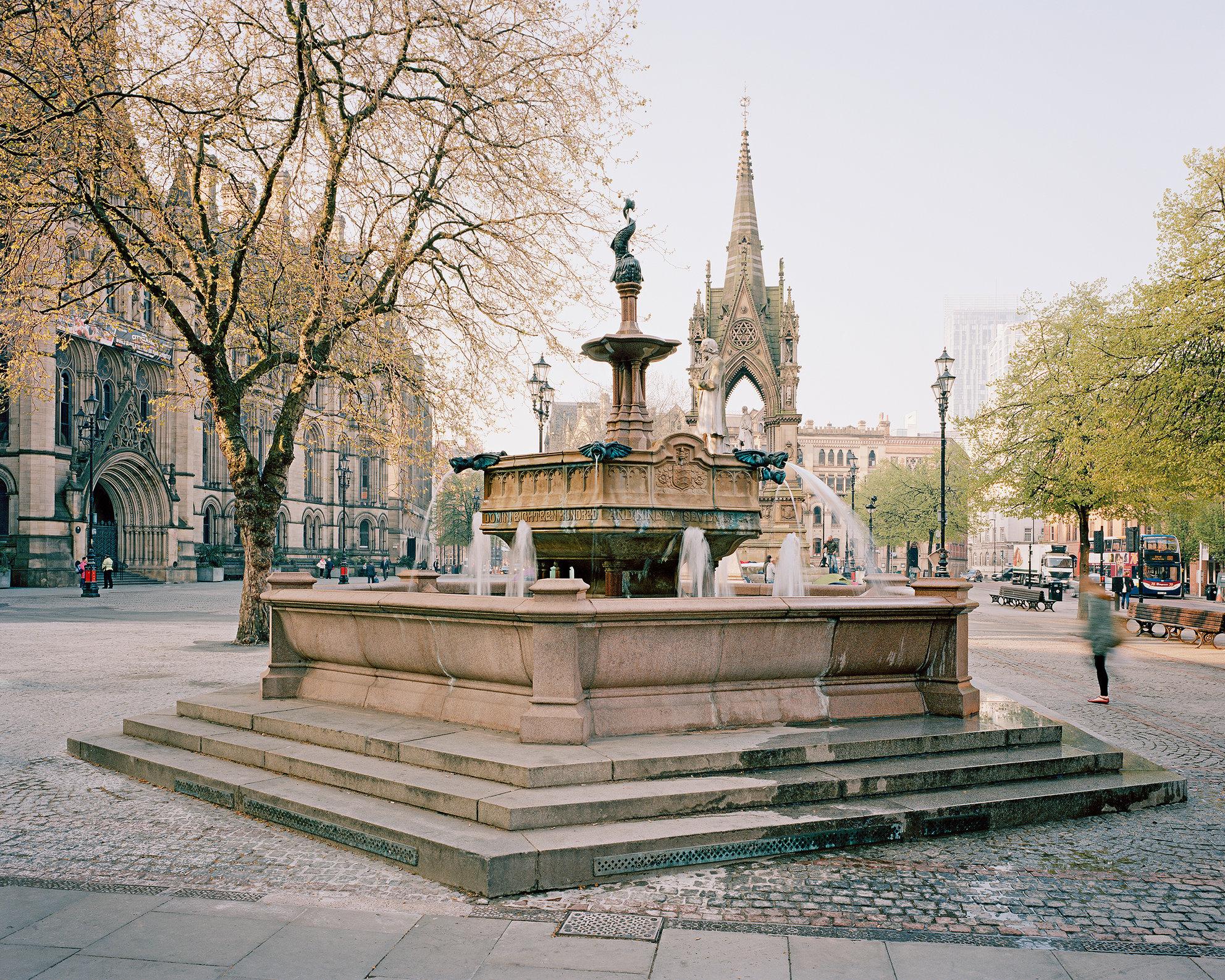 Jubilee Fountain, Albert Square, Manchester