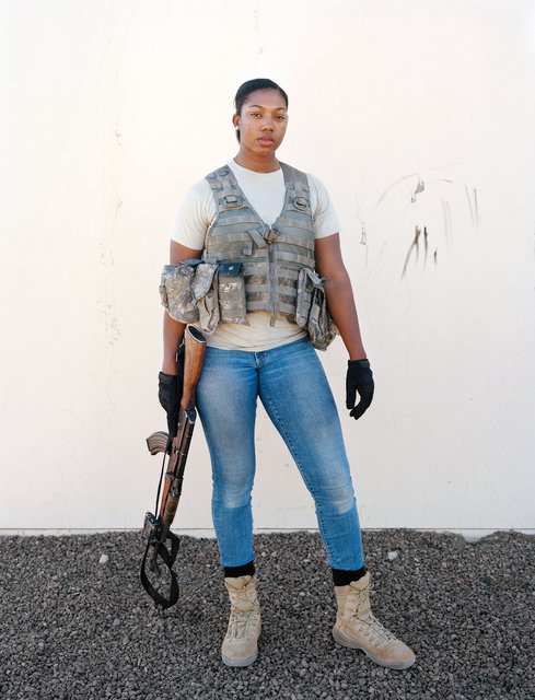 Sargent Ariel Combs, the lead insurgent in Tiefort City, National Training Center, Fort Irwin, CA 2017