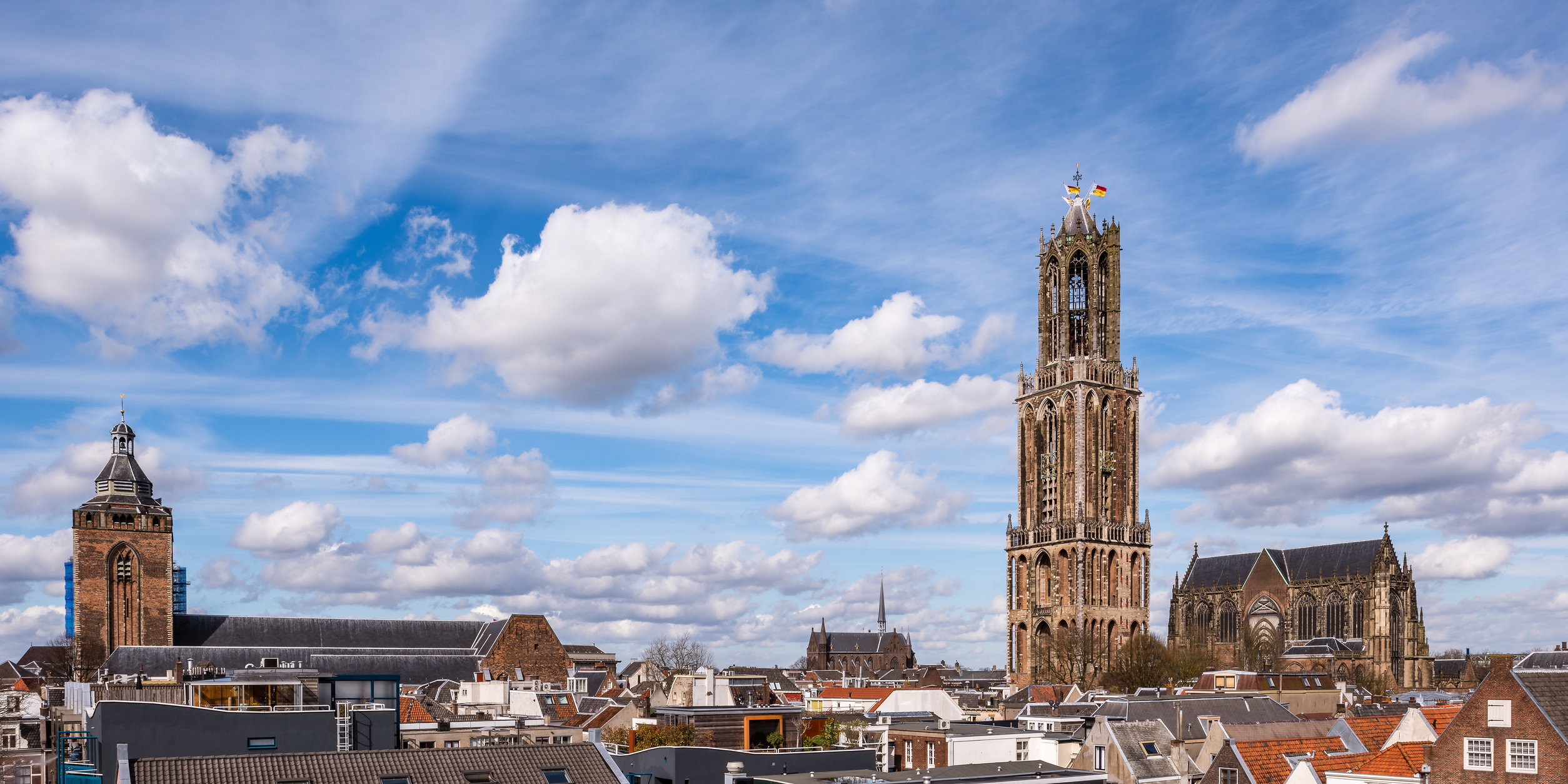 Binnenstad van Utrecht met de Domtoren
