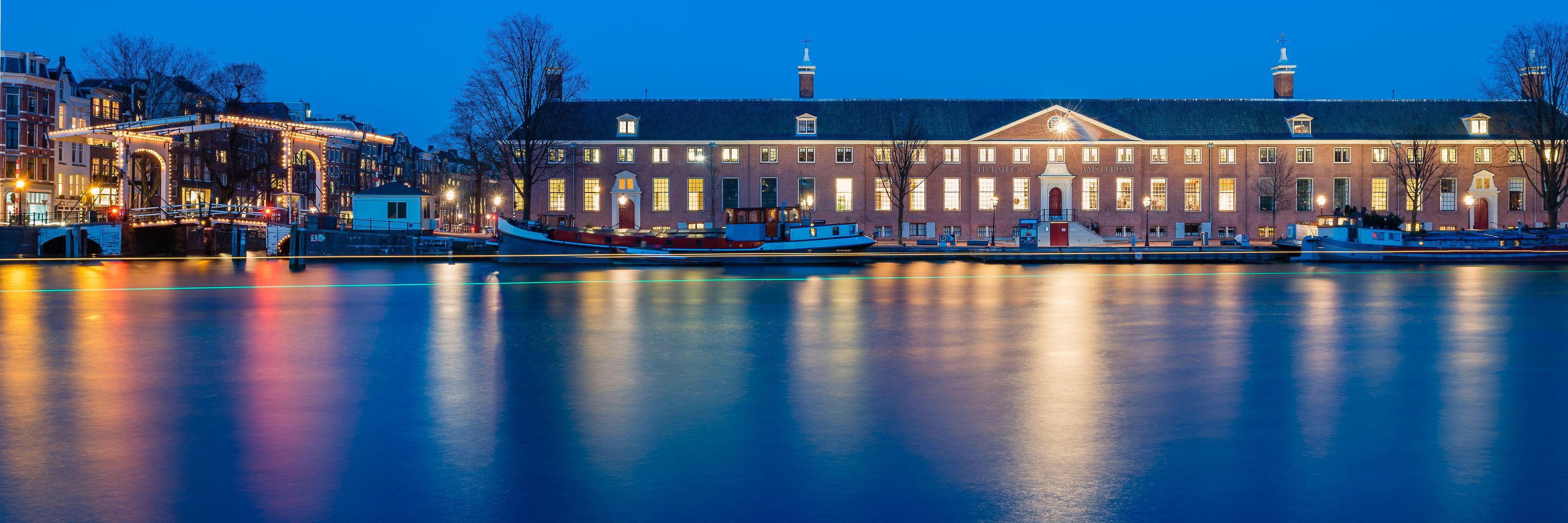 De Hermitage en de Walter Süskindbrug, Amsterdam