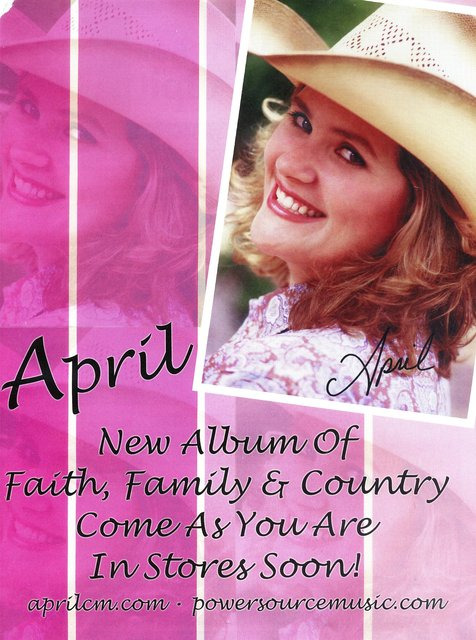 APRIL METCALF -  FAITH, POP, COUNTRY MUSIC RECORDING ARTIST.