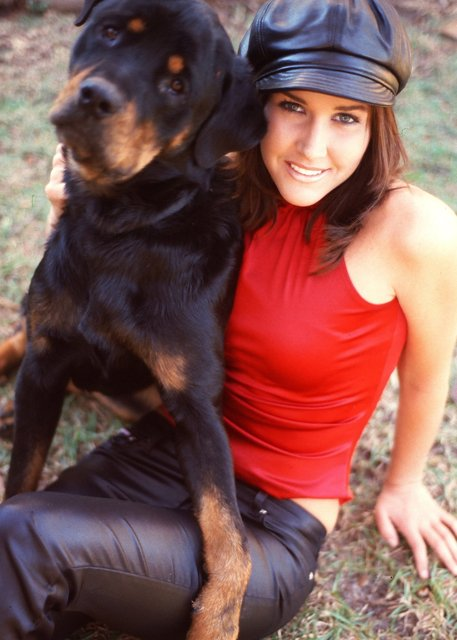 HEATHER AND THE PUP.