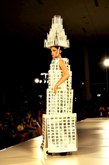 CHARLOTTE FASHION WEEK recyclable design.