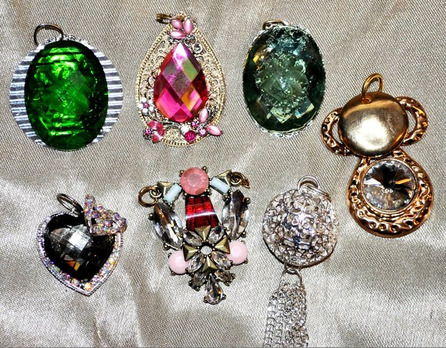 NECKLACE PENDANTS.   They all come with chains.