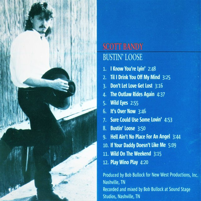 "SCOTT BANDY - NASHVILLE RECORDING ARTIST CD ""Busting Loose."""