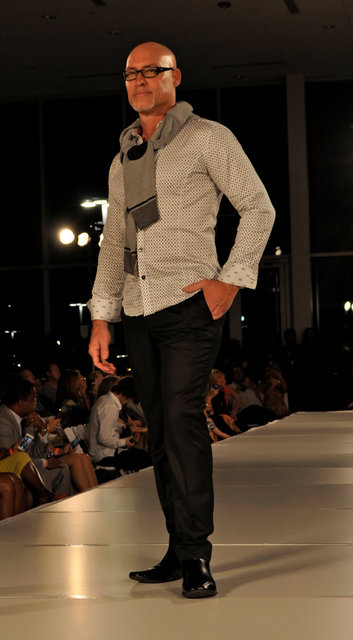 ROB McDOWELL- FASHION BLOGGER, MODEL AND RUNWAY STAR. He also co-produces CHARLOTTE FASHION WEEK.