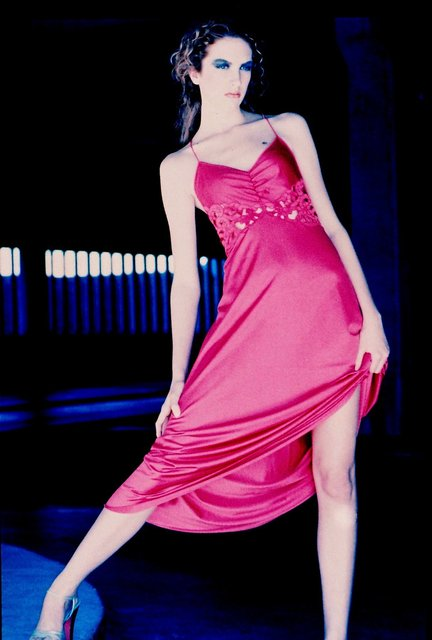 NYC MODEL ASHLEY'S FASHION WORLD MAY REQUIRE HER TO SCALE CITY WALLS IN HOT PINK.