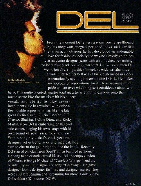 FRANCISCO DEL-  INTERNATIONAL RECORDING ARTIST, SINGER, MUSICIAN, COMPOSER, PRODUCER