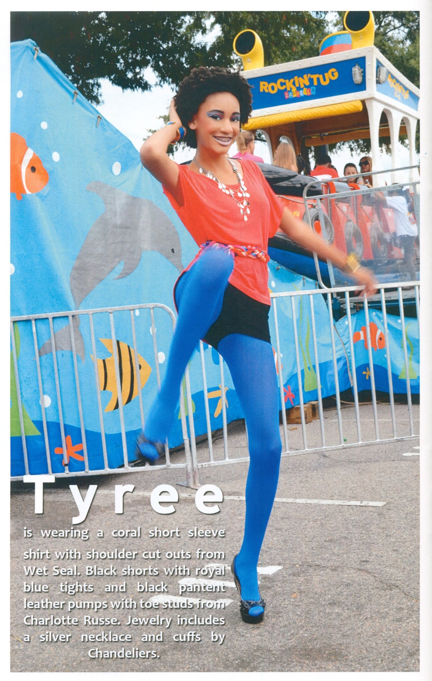 TYREE is featured in a 2 page spread in RED-ZONE magazine.