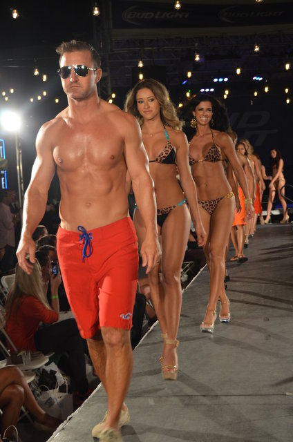 TASTE OF COLLINS international swimsuit fashion show.