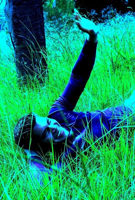 HANDSOME LA MODEL/ACTOR JEFF LOVES TO FLEX HIS ADRENALINE MUSCLE.