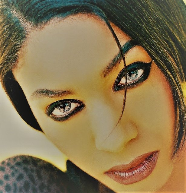 HALL OF FAME MODEL KIMBERLY IS DARK AND LOVELY WITH SMOKEY EYES.