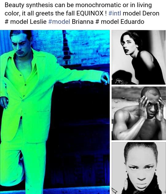 BEAUTY SYTHESIS featuring models DERON, LESLIE, EDUARDO, BRIANNA.