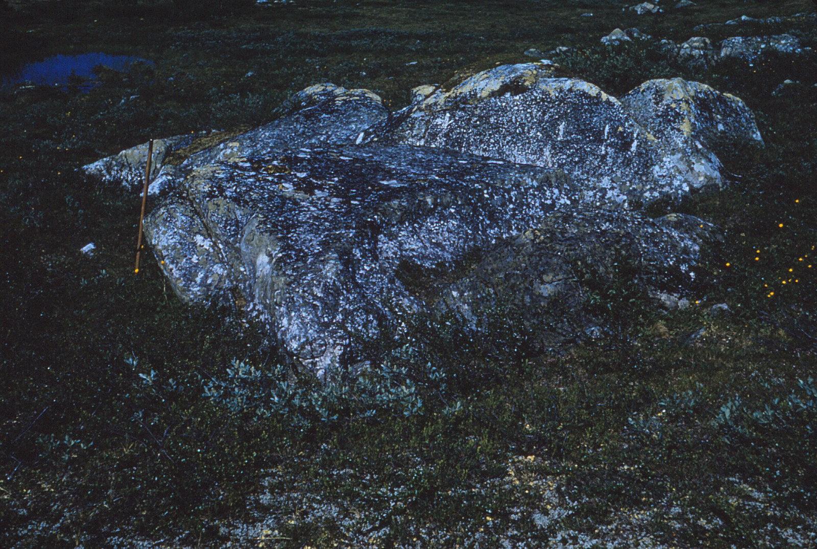 974 (10) Grote steen op helling