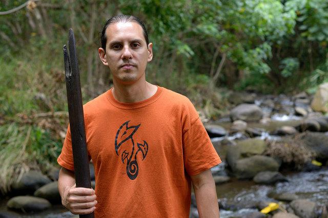 Hoku'ao Pellegrino, Maui farmer and activist.