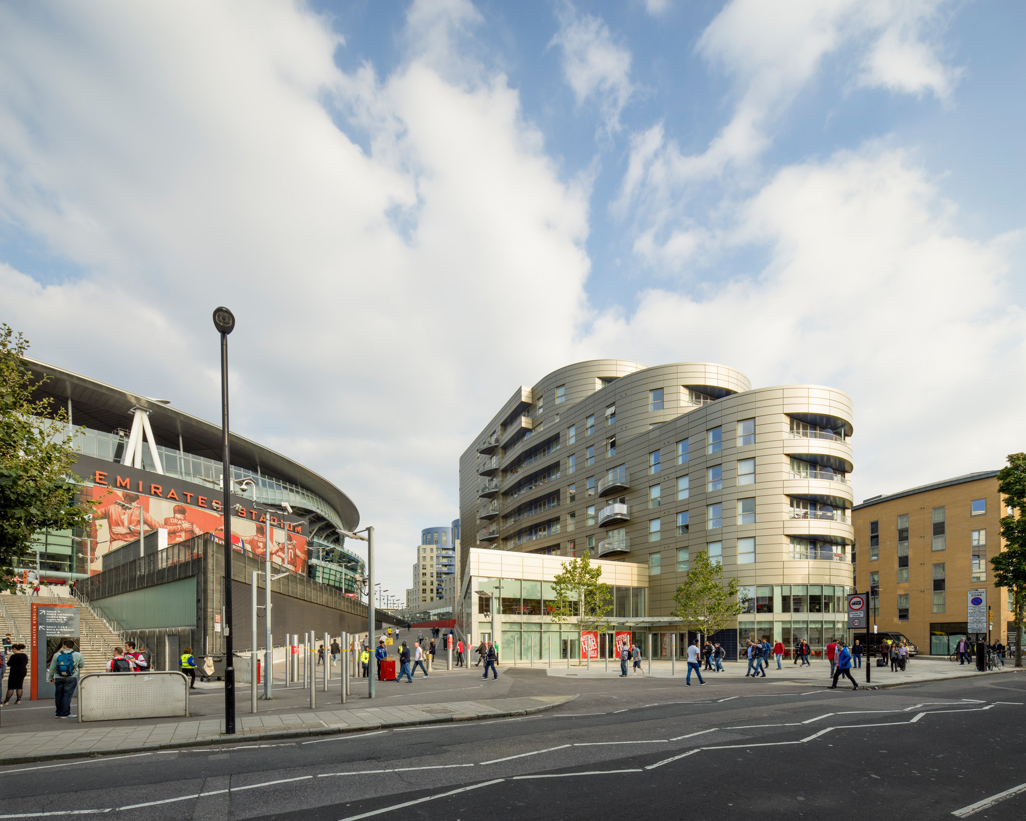 Housing at Arsenal Football Ground. CZWG Architects