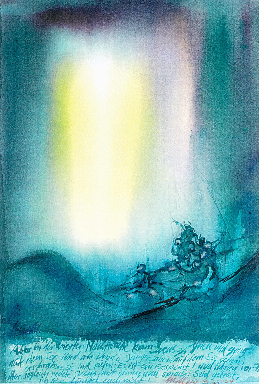 Jesus geht auf dem Wasser