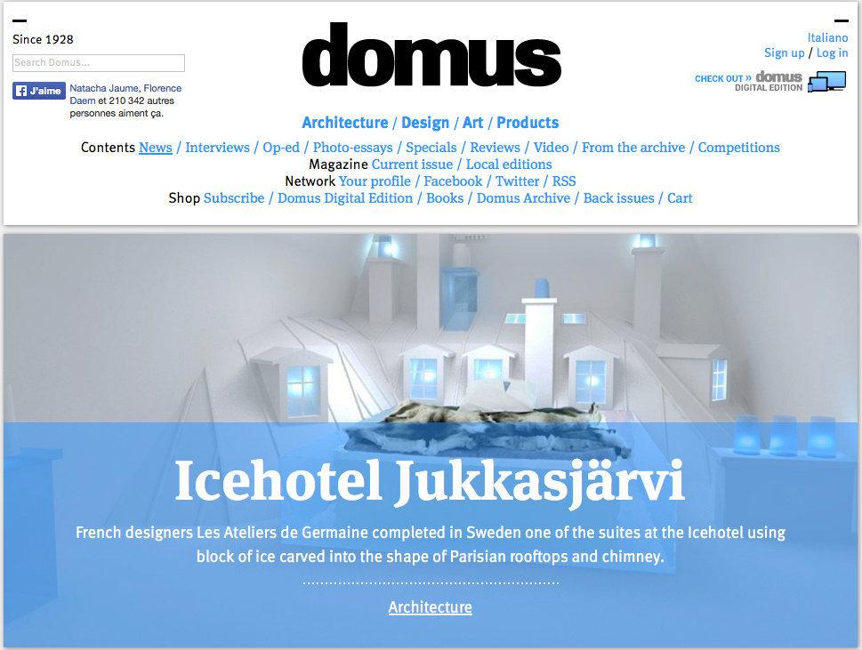 DOMUS (Italie) - 08/01/14